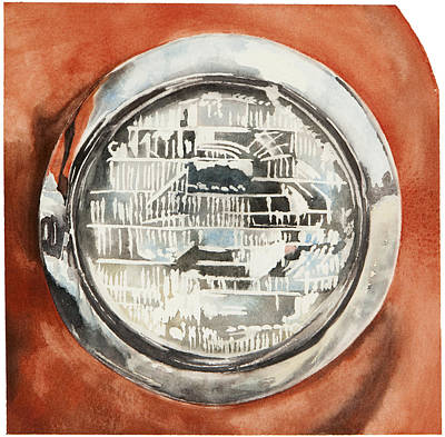 Jana Painting - Chevy Headlight by Jana L Bussanich