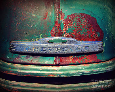 Chevy Rust Print by Perry Webster