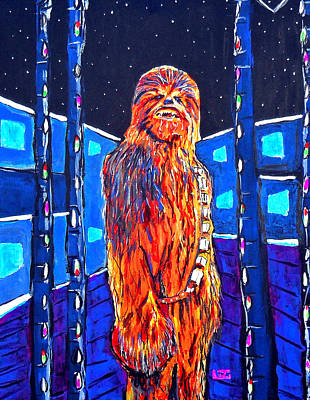 Chewbacca Painting - Chewbacca by John Leclerc