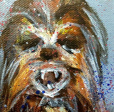 Chewbacca Painting - Chewbacca  by Mary Gallagher-Stout