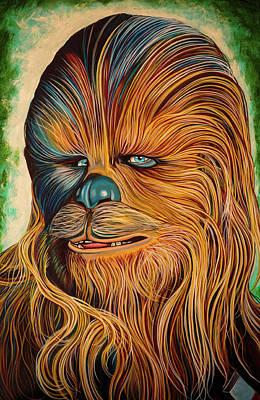 Chewbacca Painting - Chewbacca by Matt Brown