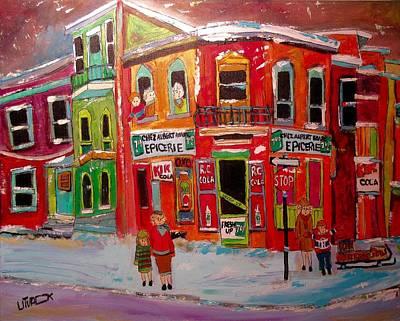 Painting - Chez Albert Hoare Epicerie by Michael Litvack
