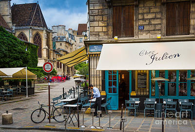 Sidewalks Photograph - Chez Julien by Inge Johnsson