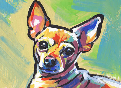 Chihuahua Dog Art Painting - Chi Chi Cha by Lea S