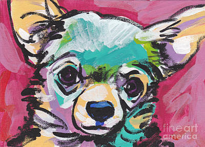 Chihuahua Dog Art Painting - Chi Chi by Lea S