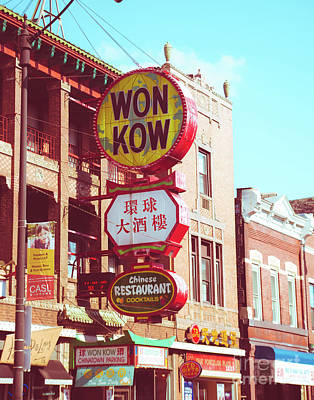Photograph - Chi Town China Town by Sonja Quintero
