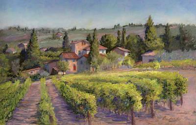 Chianti Vineyard Print by Vikki Bouffard