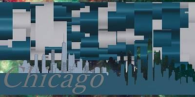Contemporary Digital Art - Chicago 1 by Alberto RuiZ