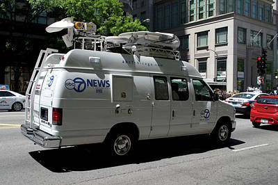 Chicago Abc 7 News Truck Print by Thomas Woolworth