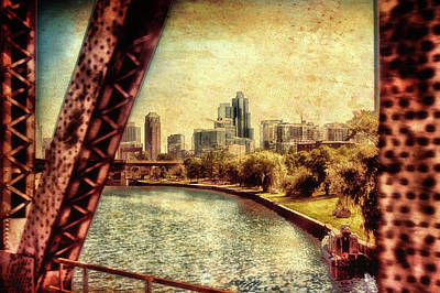 Soldier Field Mixed Media - Chicago Approaching The City In June Textured by Thomas Woolworth