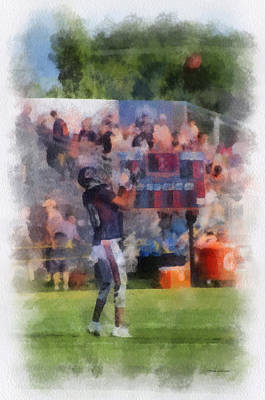 Scoreboard Mixed Media - Chicago Bear Camp The Catch Pa 01 Vertical by Thomas Woolworth