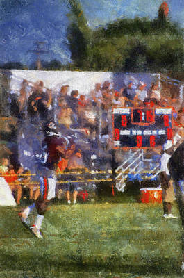 Scoreboard Mixed Media - Chicago Bear Camp The Catch Pa 02 Vertical by Thomas Woolworth