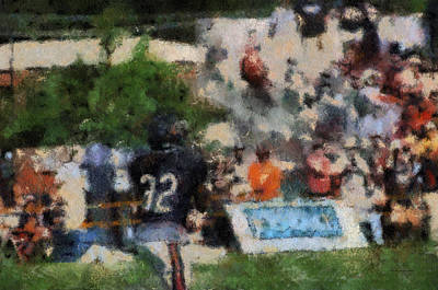 Scoreboard Mixed Media - Chicago Bear Camp The Catch Pa 05 by Thomas Woolworth