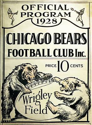 Feild Photograph - Chicago Bears Football Club Program Cover 1928 by Daniel Hagerman
