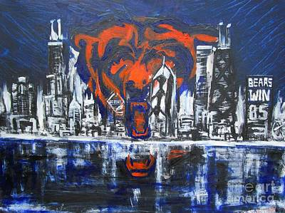 Chicago Bears Skyline  Original by John Sabey Jr