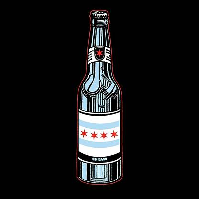 Windy Digital Art - Chicago Beer by Mike Lopez