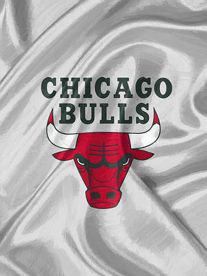 Fan Art Digital Art - Chicago Bulls by Afterdarkness
