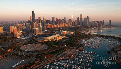 Chicago By Air Print by Jeff Lewis