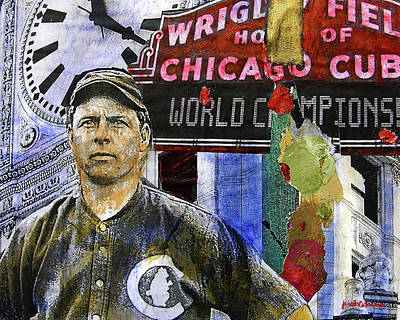 Chicago Cubs Painting - 2016 World Series Champions Original by Joseph Catanzaro