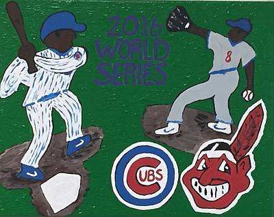 Wrigley Field Drawing - Chicago Cubs Versus The Cleveland Indians World Series. by Jonathon Hansen