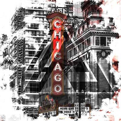 Windy Digital Art - Chicago Geometric Mix No. 2 by Melanie Viola