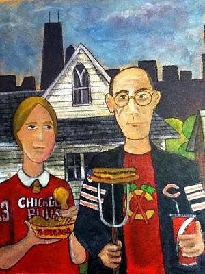 Hancock Building Painting - Chicago Gothic by Richard  Hubal