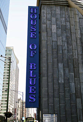 Soldier Field Mixed Media - Chicago House Of Blues Signage by Thomas Woolworth