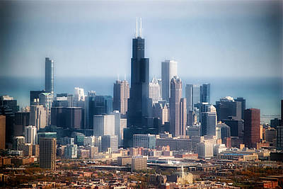 Chicago Looking East 02 Print by Thomas Woolworth