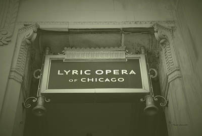 Soldier Field Mixed Media - Chicago Lyric Opera House Signage Aged by Thomas Woolworth
