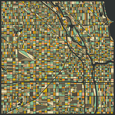 Chicago Map Print by Jazzberry Blue