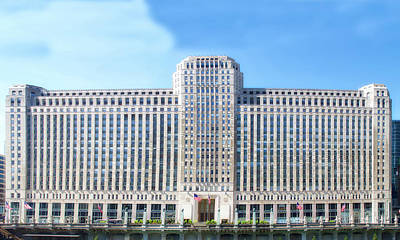 Soldier Field Mixed Media - Chicago Merchandise Mart South Facade by Thomas Woolworth