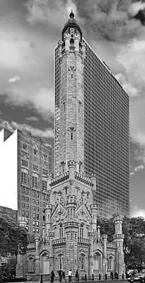 Gothic Photograph - Chicago - Old Water Tower by Christine Till