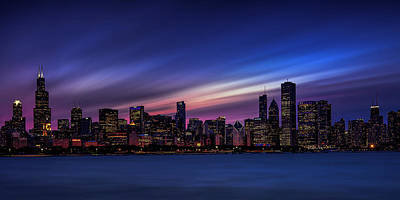Horizontal Photograph - Chicago Panorama by Andrew Soundarajan