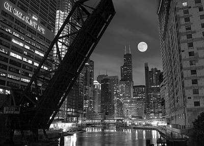 Black And White Photograph - Chicago Pride Of Illinois by Frozen in Time Fine Art Photography