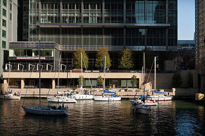 Chicago River Boats Original by Steve Gadomski