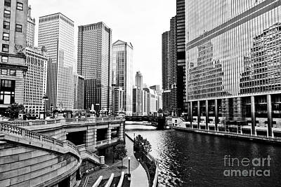 Chicago River Buildings Architecture Print by Paul Velgos