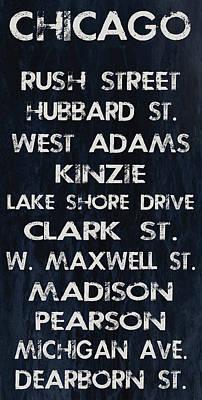 Chicago Sites Print by Jaime Friedman