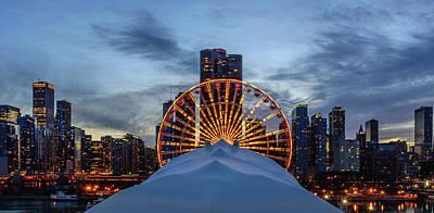 Skyscraper Photograph - Chicago Skyline From Navy Pier by Sabih Jafri
