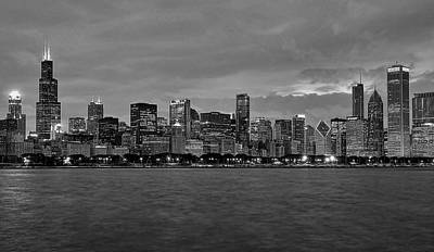 Chicago Skyline Print by Jeff Lewis