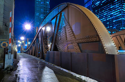 Chicago Steel Bridge Print by Steve Gadomski