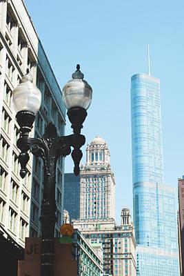 Photograph - Chicago Street Lamp by Sonja Quintero