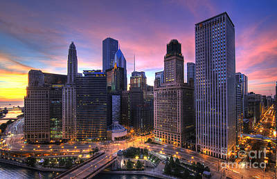 Chicago Sunrise Print by Jeff Lewis