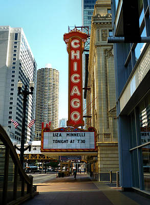 Liza Minnelli Photograph - Chicago Theater - 1 by Ely Arsha