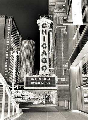 Liza Minnelli Photograph - Chicago Theater - 2 by Ely Arsha