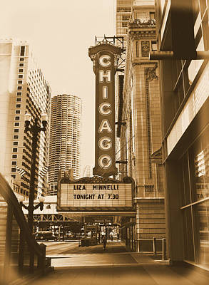 Liza Minnelli Photograph - Chicago Theater - 3 by Ely Arsha