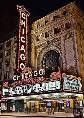 Chicago Theatre Print by Frozen in Time Fine Art Photography