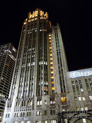 Chicago Tribune Print by David Bearden