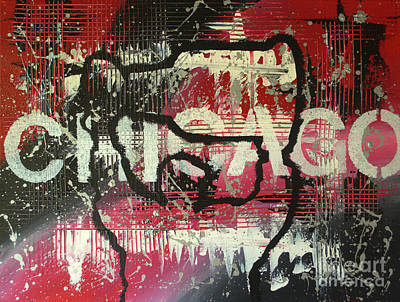 Blackhawk Painting - Chicago's Cup by Melissa Goodrich