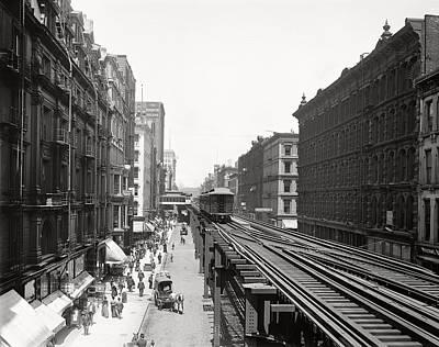 Historic Chicago Photograph - Chicago's Wabash Avenue  1900 by Daniel Hagerman