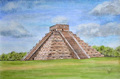 Wonders Of The World Painting - Chichen Itza by Swati Singh
